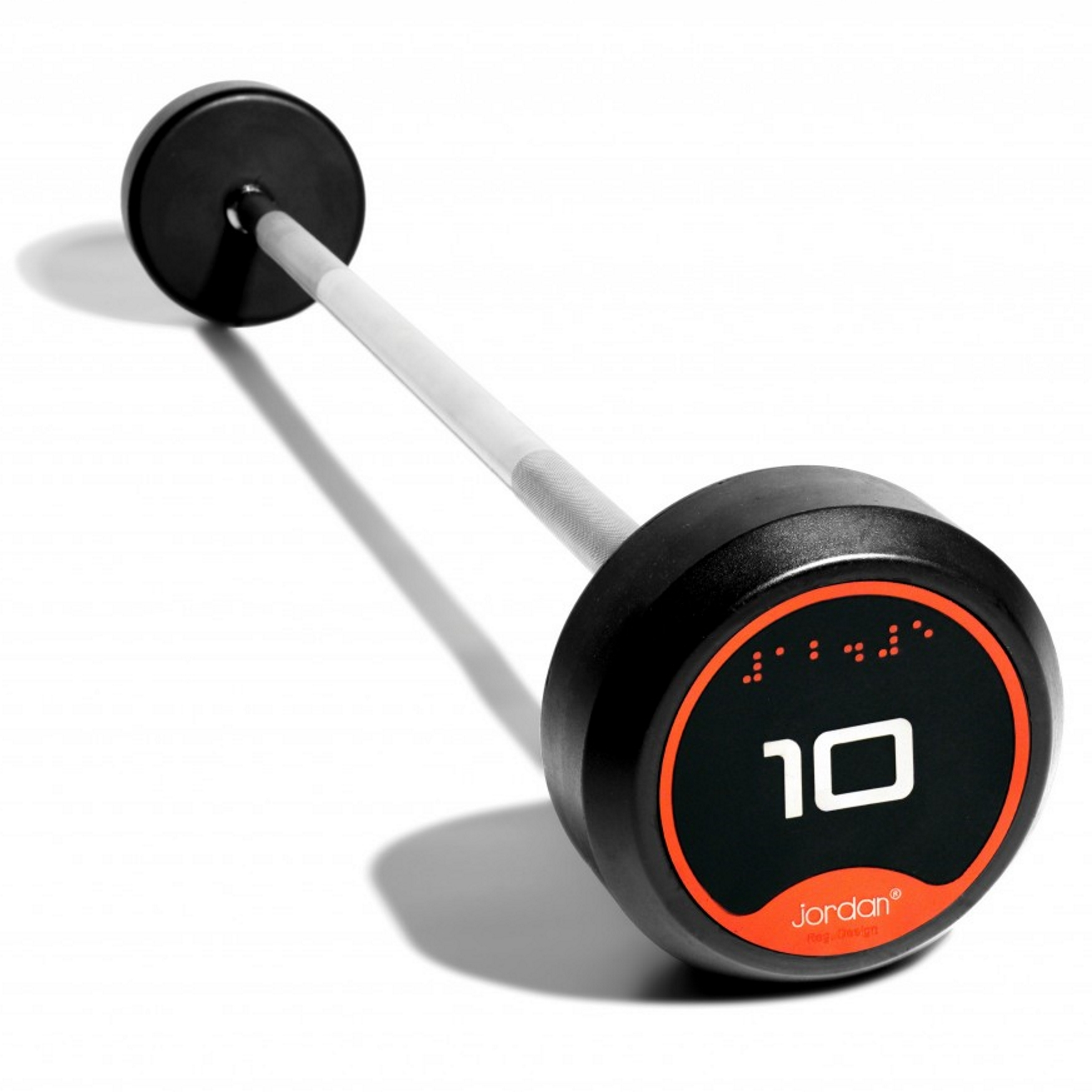 60kg Rubber Barbell with Straight Bar