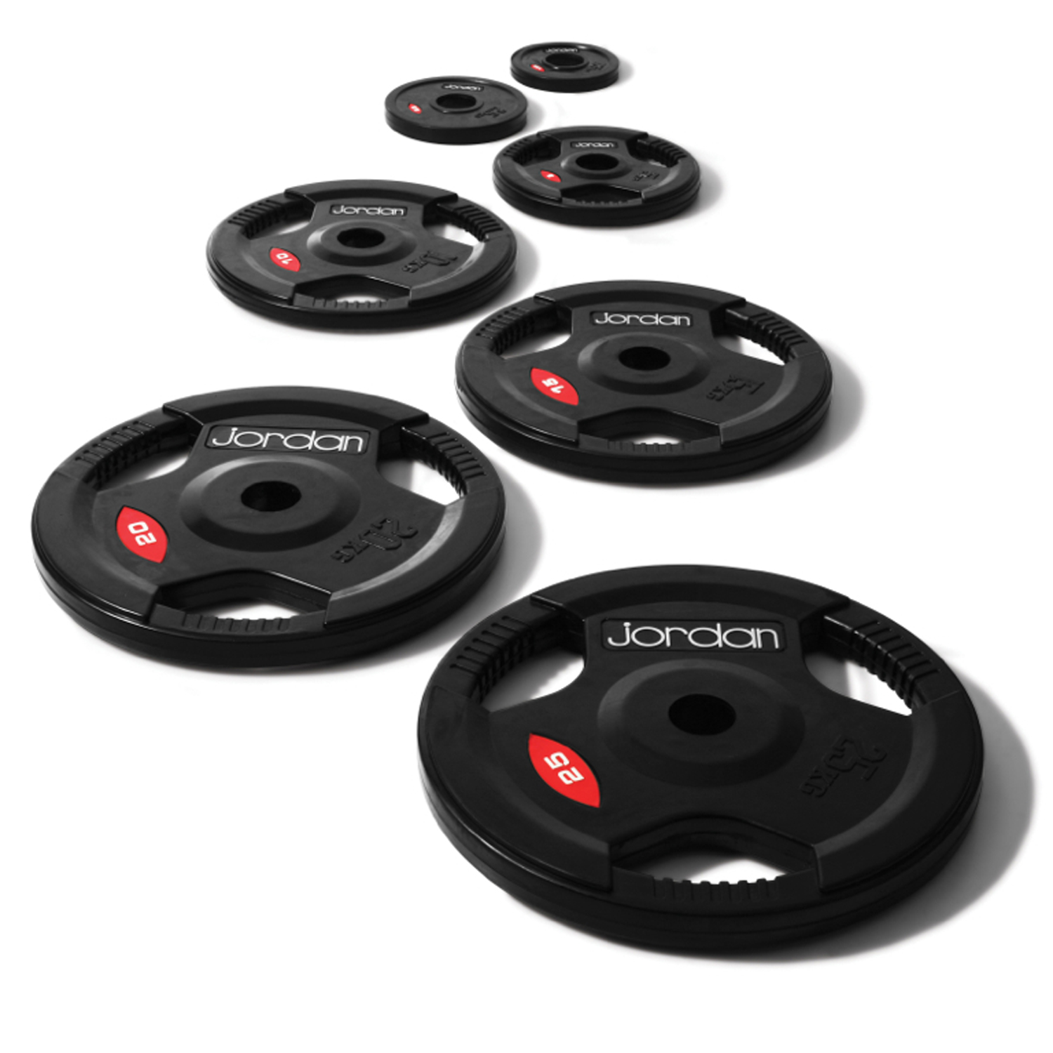 Olympic Round Black Rubber Discs 10kg
